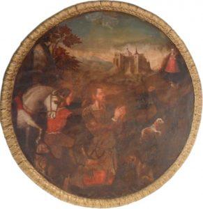 Pintura situada en la Iglesia de San Antolín (Zamora), en el camarín de la Virgen de la Concha.